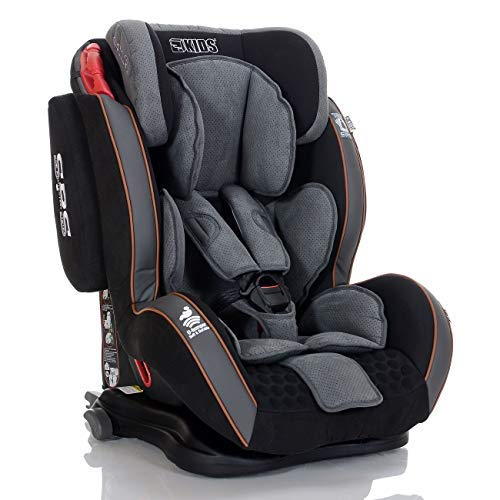 LCP Kids Auto Kindersitz GT 9-36 kg Isofix Liegefunktion SPS Side Protect Schwarz