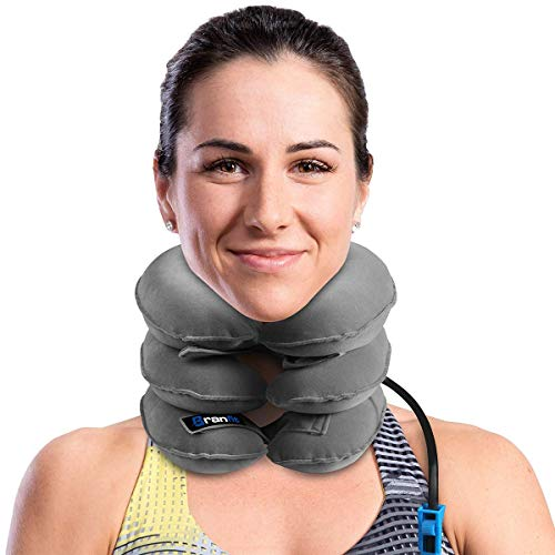 Cervical Neck Traction Device and Neck Brace by BRANFIT, Adjustable Neck Support and Neck Stretcher for Spine Alignment and Neck Pain Relief, USA Design (Single Neck Brace)
