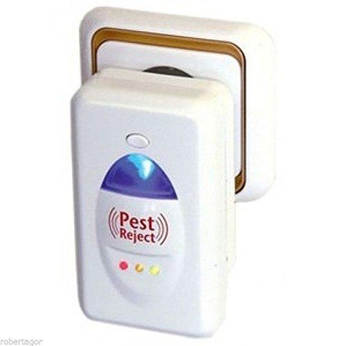 Set de 4 Pest Reject: ahuyenta mosquitos, insectos, roedores, moscas, arañas, ratones con ultrasonidos