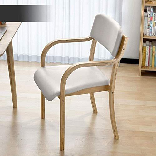 BLLXMX Sedia di Legno Solido Bar Chair Bar Sedia Tavolo Durevole e Non Facile deformare Stool Bar Stool Sgabello Alto Sedia da Pranzo (Color : White)