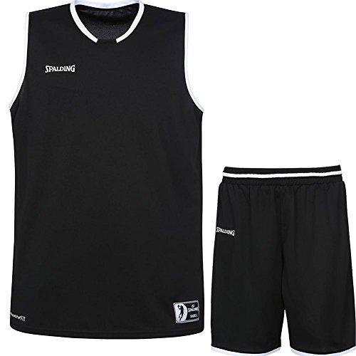 Spalding Basketball Kombi Trikot Set Move Trikot + Shorts für Kinder und Erwachsende (schwarz/weiß, XL)