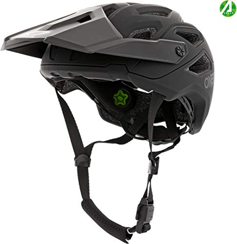 Oneal Pike 2.0 IPX Helmet Solid Black/Gray Motorhelm MX-Motocross