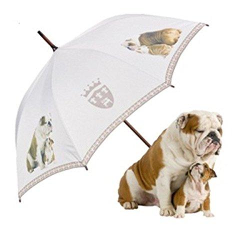 MySchirm Designer Regenschirm 'Englische Bulldoggen' - Eleganter Stockschirm - Luxus Design - Automatikschirm