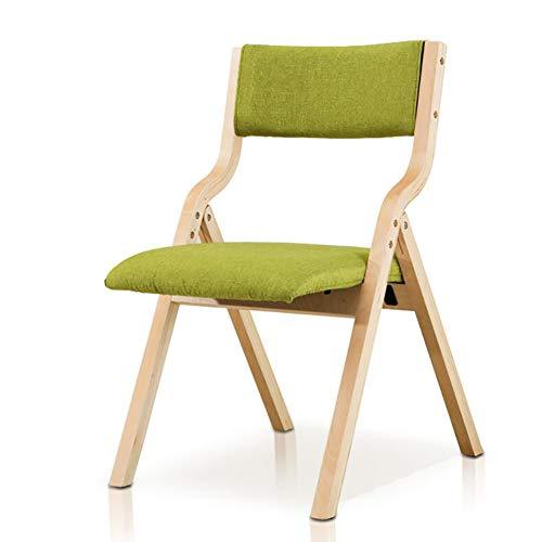 ZCXCC Confortable Dossier en Bois Massif Chaise Pliante en Tissu Dinant La Chaise Ordinateur Chaise Chaise De Bureau Balcon Maison Chaise,A