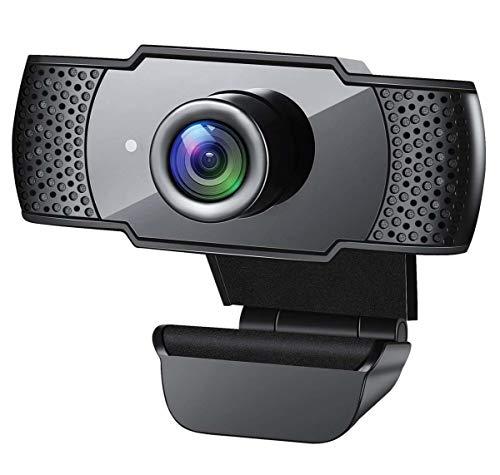 YHX Cámara Web Full HD 1080P, Cámara De Transmisión En Vivo para Videollamadas, Clases En Línea, Corrección De Luz HD, Funciona con Skype, Zoom, Facetime, Hangouts, PC/Laptop/Smart TV