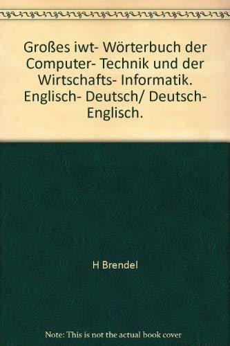 Grosses IWT-Wörterbuch der Computertechnik und der Wirtschaftsinformatik. Englisch-Deutsch. Deutsch-Englisch
