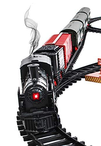 Elektrische Eisenbahn Lok Kinder Kleinkinderspielzeug Eisenbahn mit Bahnhof Schienen 8239