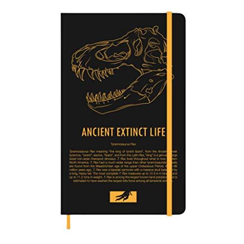 ZRJ Business Notizbuch Paleontology Memorial Notebook A5 Dinosaurier Notebook zum Schreiben und Zeichnen Schreiben und Zeichnen mit Gelstiften und Füllfederhaltern, Geschenk für Schüler