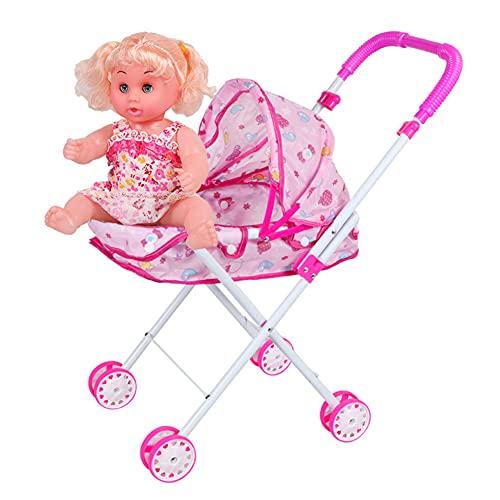 ktong Andador para bebés con muñeca, Andador de Actividades para niños Durante...