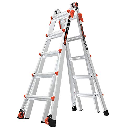 Little Giant Ladder Systems LG Escalera Multiuso con Capacidad de Carga de 136 kg, 22 foot with wheels
