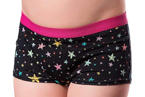 DRY & COOL Tages-Inkontinenzslip für Mädchen | Unterwäsche | Waschbar | Absorbierende Einlage | Stary Night | 122-128 cm (7-8 Jahre)
