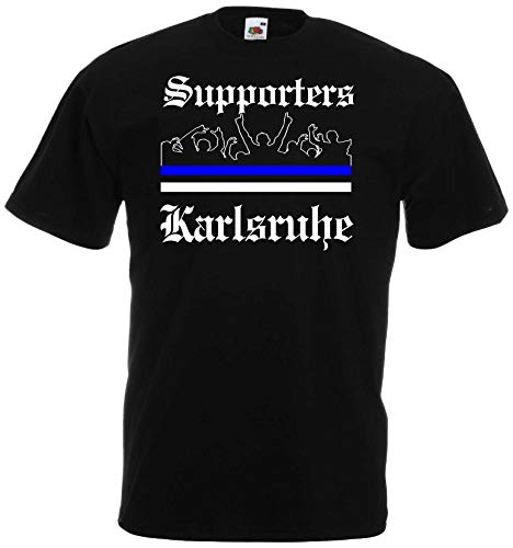 Karlsruhe Herren T-Shirt Ultras Supporters Schwarz M