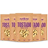 Anacardos enteros Tostados SIN SAL nut&me | Sin Gluten | Vegano | snack saludable y sabroso | Pack 5 unidades (200g/unidad)