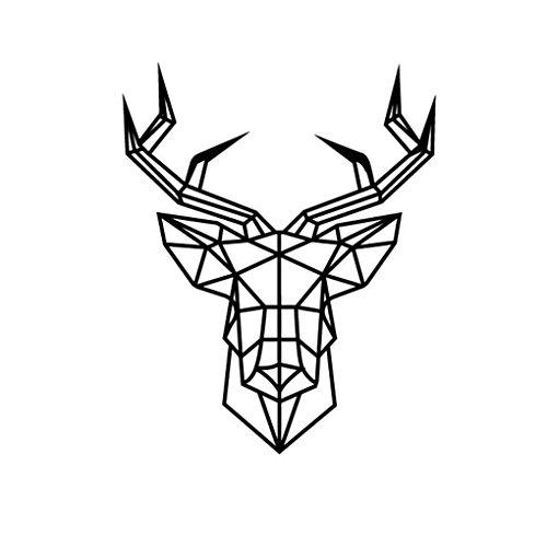 Bobury Morden geométrica de Cabeza de los Ciervos de Vinilo de Pared de la Etiqueta DIY Animal Art Decal Home Decor