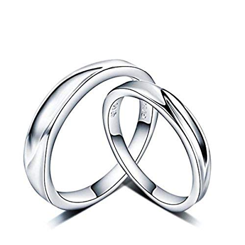dc jewels Sterling Silver Couple Ring for Men & Women