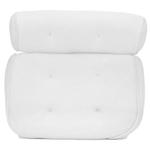 TRIXES Luxuriöses Badekissen mit Saugnäpfen - 2-teilges Komfort Design stützt Kopf-, Hals- und Schulterbereich - Home Spa Muskel-Entspannung - Geeignet für Badewannen Jacuzzi Hot Tubs und Sprudelbäder