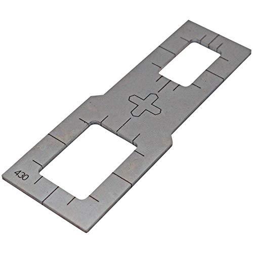 Rocker Switch Plasma Stencil - .380' - Rectangular Plasma Cutter Guide Template