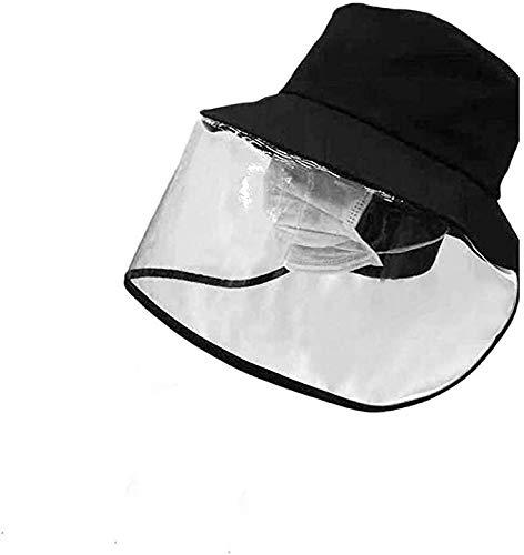 GEMVIE Sombrero Protector Facial para Niños,Sombrero Protector Anti-Saliva Anti-escupir Transparente Funda Protectora para Toda la Cara,Sombrero de Pescador con Banda Elástica Ajustable