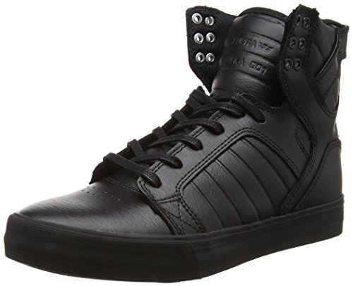 Supra Unisex Skytop High Top, Schwarz Black Black Red Rcs, 39 EU