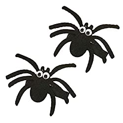 handmade hair clips for babies ~ Halloween spider