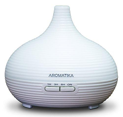 Luftbefeuchter für Ätherische Öle 300ml für Aromatherapy - Led - Ultraschall zur Luftbefeuchtung und Aromatisieren - Aroma Diffuser für Raum - Zuhause - Büro —Aromalampe elektrisch