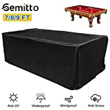 GEMITTO Heavy Duty 7/8/9 ft Snooker Pool Table Dust Cover Anti-UV Tear Resistant Polyester Fabric Outdoor Furniture Cover black 225 * 116 * 82cm