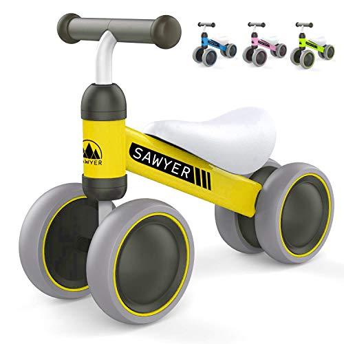 Sawyer - Correpasillos / Bicicleta Sin Pedales - Niños 10 a 24 Meses / Bebes 1 Año (Amarillo)