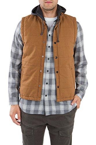 UNIONBAY Men's Flannel Lined Canvas Vest, Sasquatch, Large