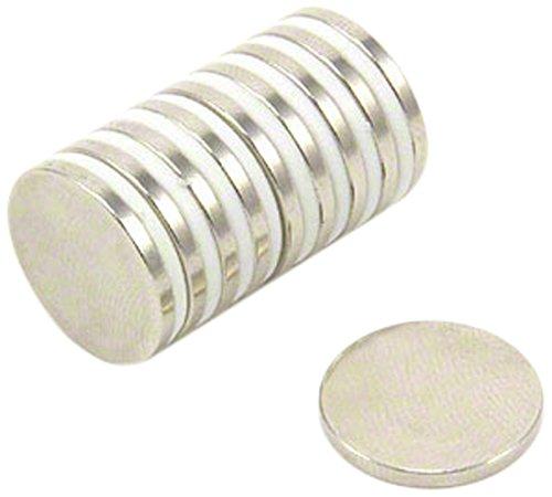 first4magnets sp1515 - N35H -10 15 mm diámetro x 1,5 mm de Grosor N35H imanes de neodimio (10 Unidades)