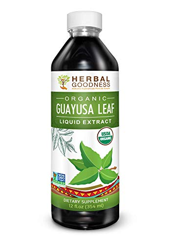 Guayusa Leaf Extract - Clean Energy Boost Drink - Brain Clarify & Focus - Fat Burner Natural Caffeine - Coffee Alternative - Anti-Inflammatory - Organic, Non GMO, Kosher, 12 oz Bottle - Made in USA