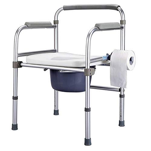 Bathroom Wheelchairs RRH Bedside Commodes Elderly Toilet seat, Household Aluminum Folding Bedside Toilet Chair, Pregnant Women, Disabled Bathroom Shower Chair