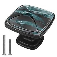キャビネットノブ4個クリスタルガラスプルハンドル青い海水 家具のドアまたは引き出しを開く場合