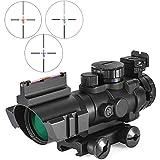 TcooLPE 4x32mm Zielfernrohr Reflex Optics Taktisches Visier für Jagdgewehr Gewehr Airsoft Scharfschützenlupe, 20mm Schiene