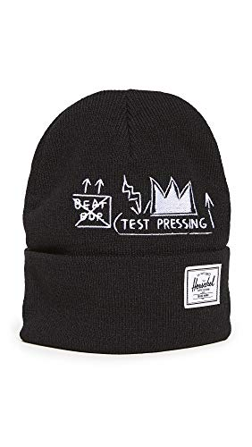 Herschel Supply Co. Men's x Basquiat Elmer Beanie, Basquiat Beat Bop, Black, Graphic, One Size