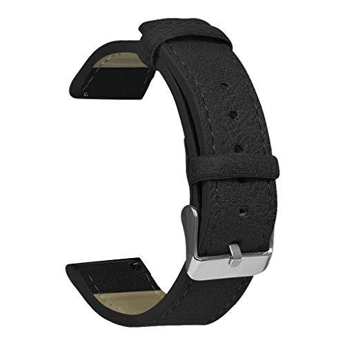 Correa Compatible con Xiaomi Huami Amazfit GTS , riou Correa de Reloj de Pulsera de Cuero Retro de Repuesto para Reloj Inteligente Compatible con Huami Amazfit GTS Pulsera