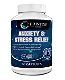 Anti Anxiety & Stress Relief Supplement Natural Plant Based Herbal Blend Anxiety Relief Fatigue Support Mental Focus Positive Mood w/Serotonin Non Drowsy Formula for Memory Made in USA