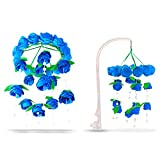 Magical Baby Handmade Felt Bed & Crib Mobile With Arm Holder - Best Hanging Toys, Beautiful and Unique, Blue Roses Nursery Decorations & Accessories for Infants & Toddlers.