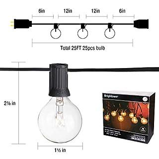 عروض 25Ft G40 سلسلة أضواء العالم مع لمبات