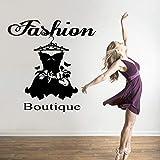 Colorido boutique de moda vestido etiqueta de la pared calcomanías de pvc para...