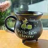 Pacific Giftware Witch's Brew Cauldron Ceramic Porcelain Coffee Mug Soup Bowl 32 fl oz