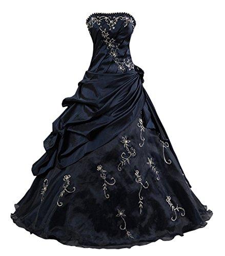 Kmformals Damen Formales Abschlussball Kleid Ballkleid Prom Kleider Größe 48 Dunkelblau