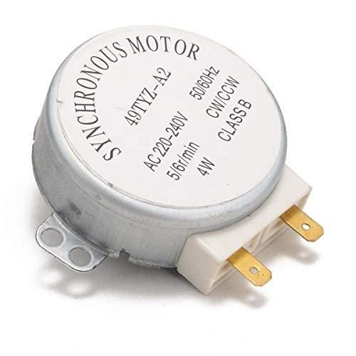 LF_FFa 1pc Metal del Horno microondas Synchronous Motor 49TYZ-A2 AC 220-240V CW/CCW 4W 4 RPM Motor sincrónico for Horno microondas