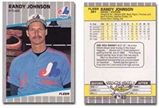 1989 Fleer Randy Johnson Rookie Baseball Card #381 - Shipped In Protective Display Case!
