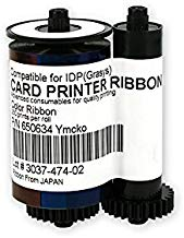 650634 YMCKO Color Ribbon For IDP Smart ID Card Printer 250 Prints