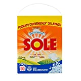 Sole Bianco Solare Detersivo Lavatrice Polvere, 50 Lavaggi, 3250 g