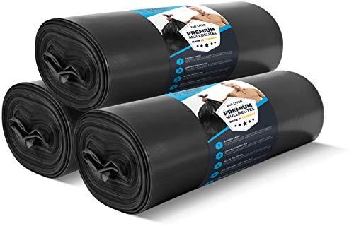 30 Stück EXTREM Müllsäcke 240L reißfest 70 µ - Profi Schwerlast XL Mülltüten schwarz Haushalt & Industrie – Abfallsäcke – Stabile Beutel, starker Müllbeutel - in 100 cm x 125 cm LDPE Müllentsorgung