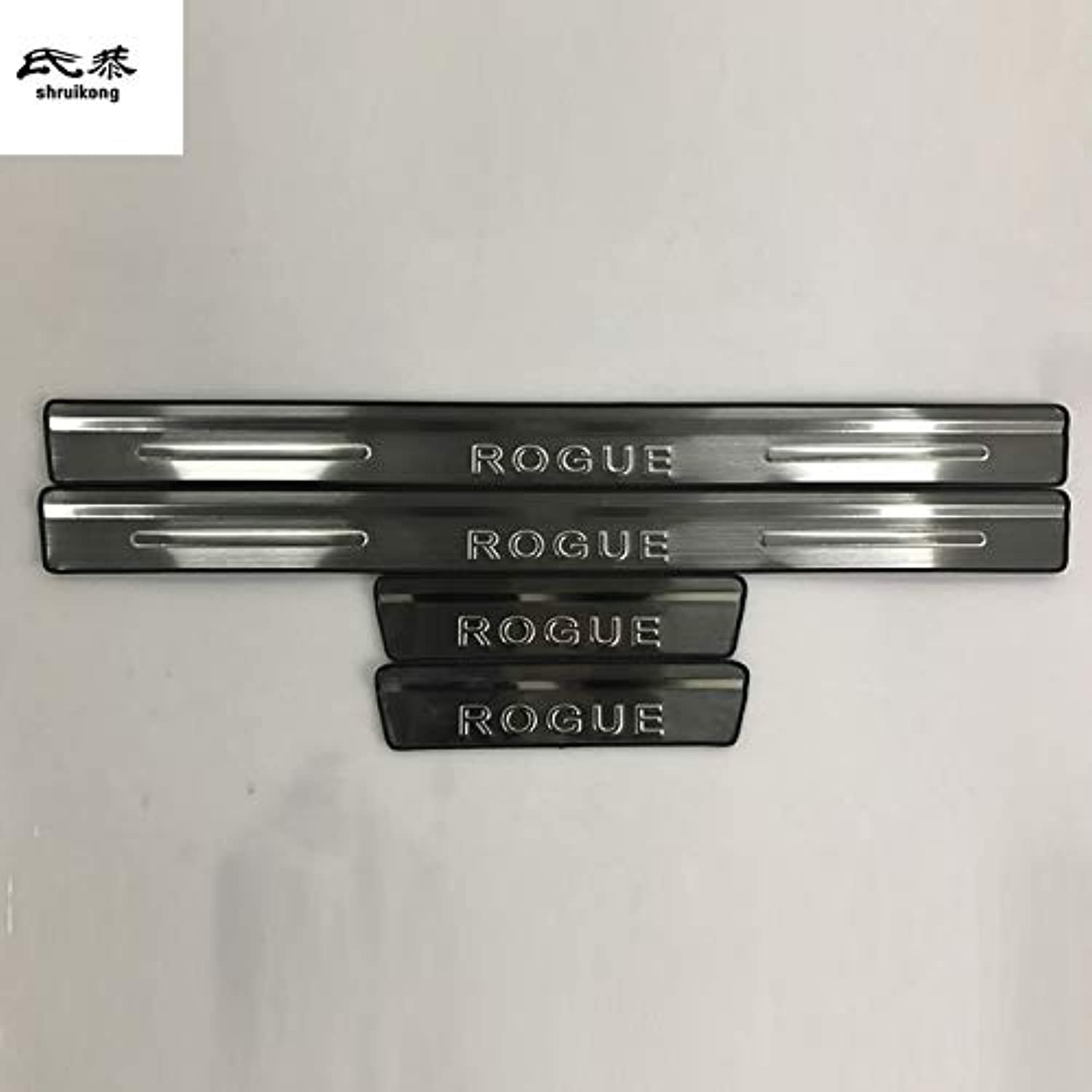 4pcs lot for 2014 2015 2016 2017 Nissan Rogue Sport Stainless Steel Scuff Plate Door sill Pedal car Accessories