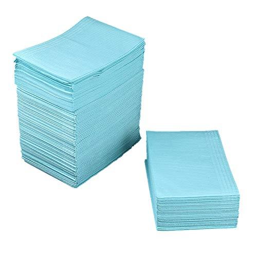 Cuasting Blau 125 StüCke Saugf?Higen Tattoo Tisch Decke Einweg Tattoo Tuch Handtuch Reinigung Pad Wasserdichte Medizinische Papier Tischdecke Pad Doppel Board Tattoo Zubeh?R 45X33 Cm