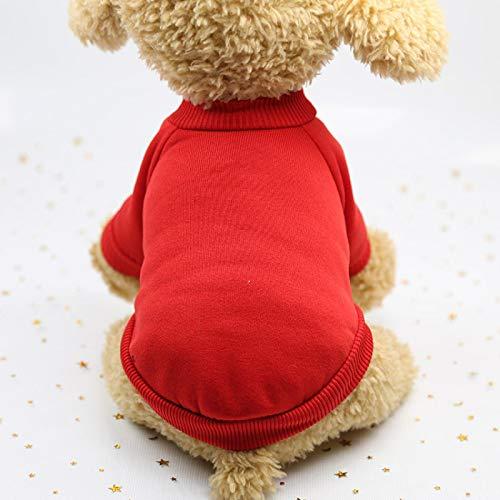 Ropa De Perro Abrigo Chaqueta Clásico Color Sólido Más Terciopelo Bulldog Francés Ropa para Perros Pequeños Abrigo De Invierno para Chihuahua Sudadera con Capucha para Cachorr
