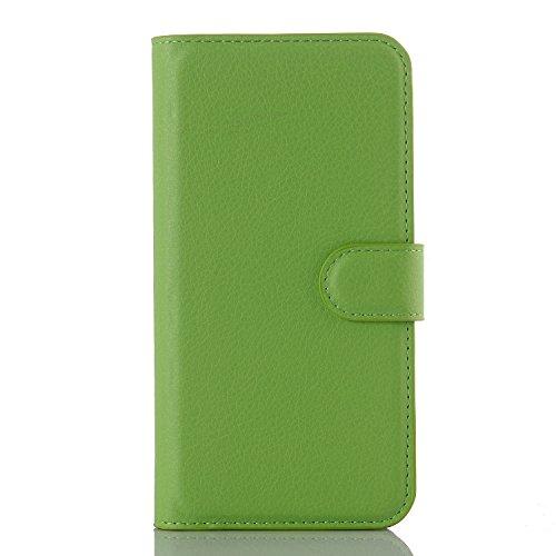 pinlu® PU Leder Hülle Schutzhülle Für Google LG Nexus 5X Prämie Geschäfts Art Haut Textur Flip Etui Brieftasche Mit Stand Function Innenschlitzen Design Cover Grün